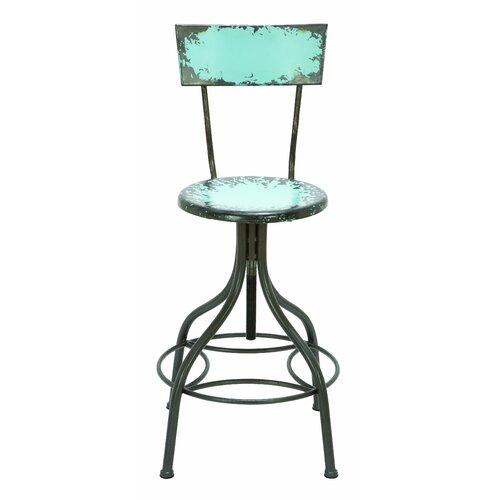Woodland Imports Old Look Adjustable Height Bar Stool  : Woodland Imports Old Look Adjustable Bar Stool from www.wayfair.com size 500 x 500 jpeg 16kB
