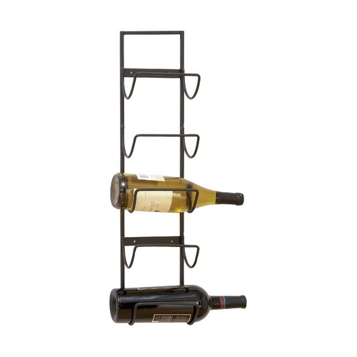 Woodland Imports Old World Wall Mounted 5 Bottle Wine Rack