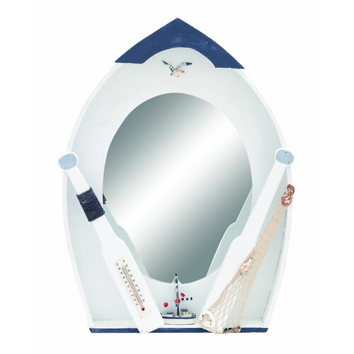 Woodland Imports Seaside Nautical Row Boat Décor Mirror
