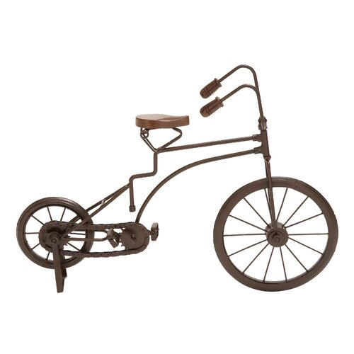 Woodland Imports Metal Cycle Figurine