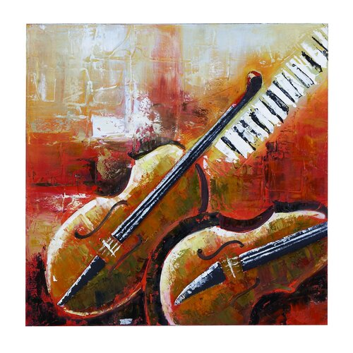 Violin Painting Print on Canvas