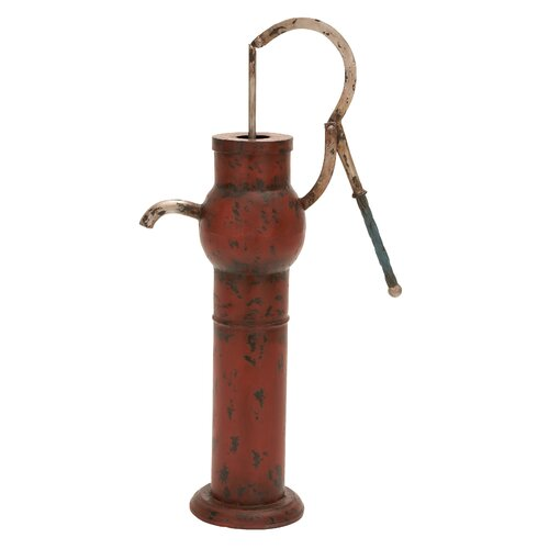 Woodland Imports Metal Water Pump Figurine