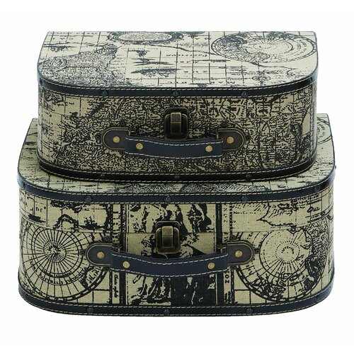 Ancient World Map Travel Case (Set of 2)