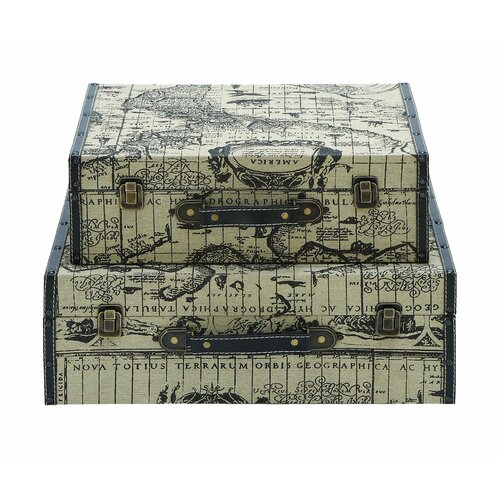 Woodland Imports Ancient World Map Travel Luggage