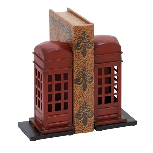 Woodland Imports Library Metal Book Ends