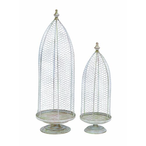 Woodland Imports Victorian Church Steeple Standing Planter (Set of 2)
