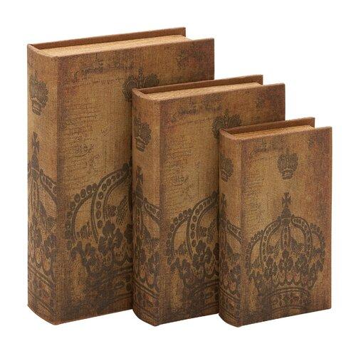 Woodland Imports Library Wood Storage Book