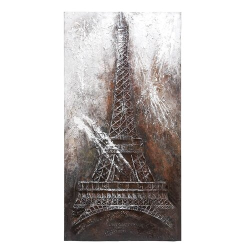 Woodland Imports Eiffel Tower Graphic Art on Canvas
