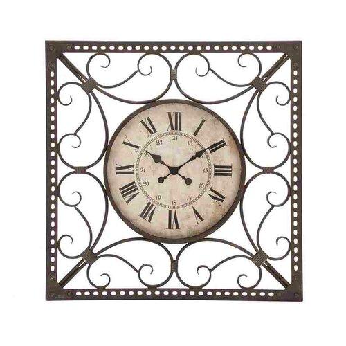 Woodland Imports Metal Roman Quartz Wall Clock