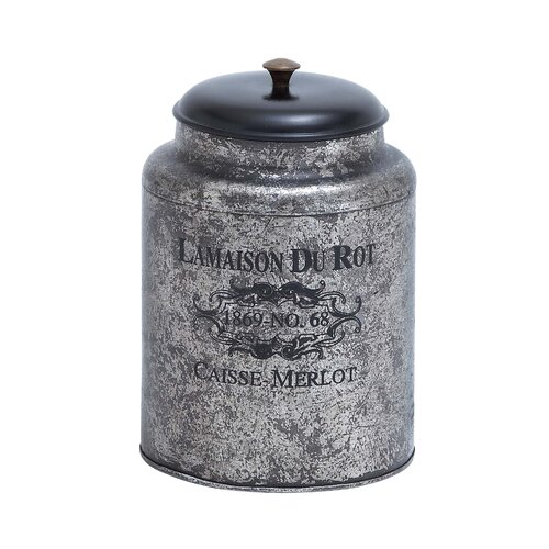 Woodland Imports Metal Jar