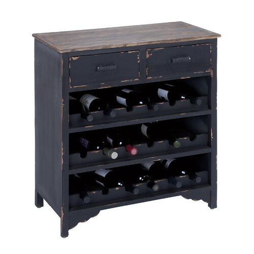 Woodland Imports 18 Bottle Wine Cabinet