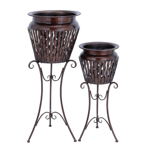 Round Stand Planter (Set of 2)