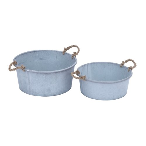 Round Pot Planter (Set of 2)
