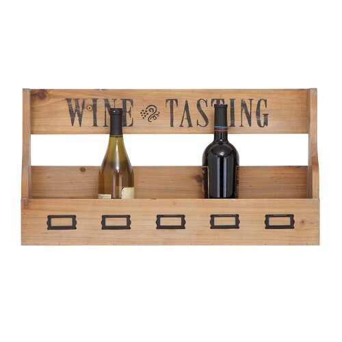 6 Bottle Wall Mount Wine Rack