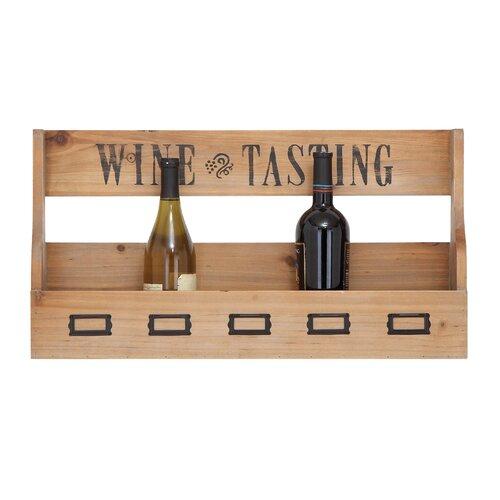 6 Bottle Wall Mount Wine Rack