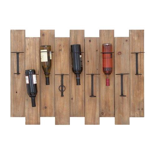 9 Bottle Wall Mount Wine Rack