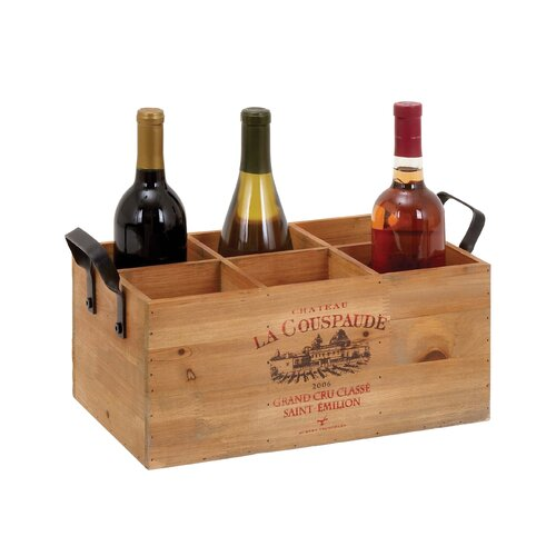 Woodland Imports 6 Bottle Tabletop Wine Rack