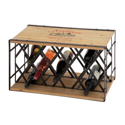 Woodland Imports 13 Bottle Tabletop Wine Rack