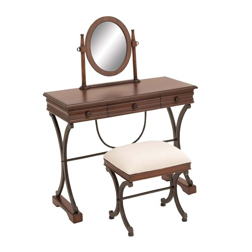 Woodland Imports Vanity Set with Mirror