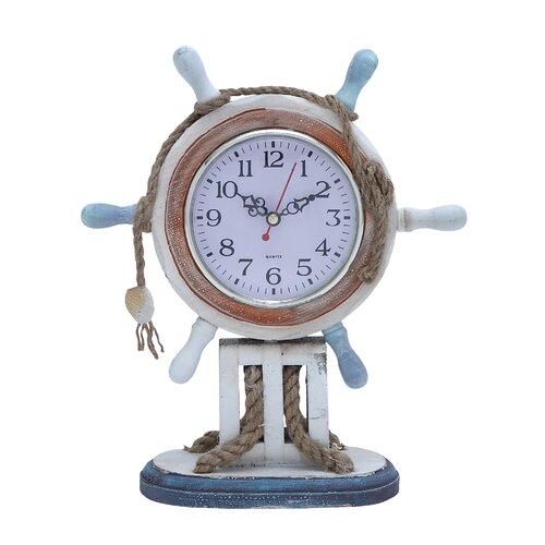 Nautical Theme Wood Clock