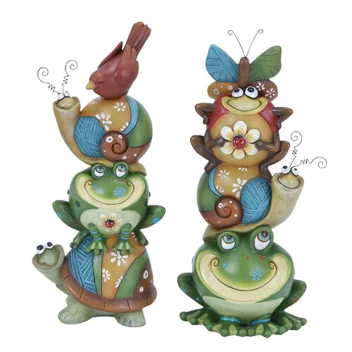 Woodland Imports Animal Stack Vibrant, Quirky and Decorative Statue
