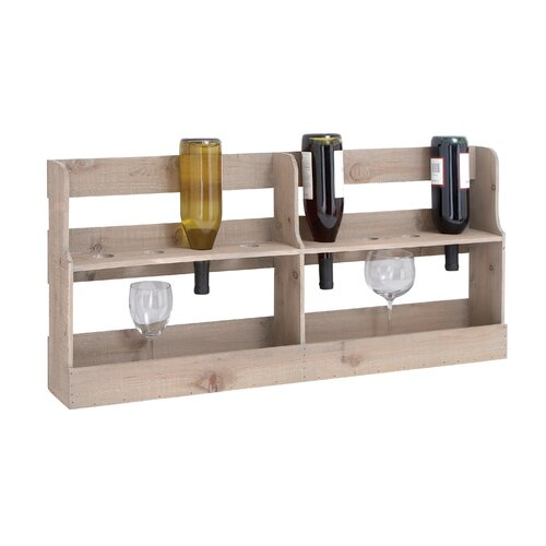 Woodland Imports 3 Bottle Tabletop Wine Rack