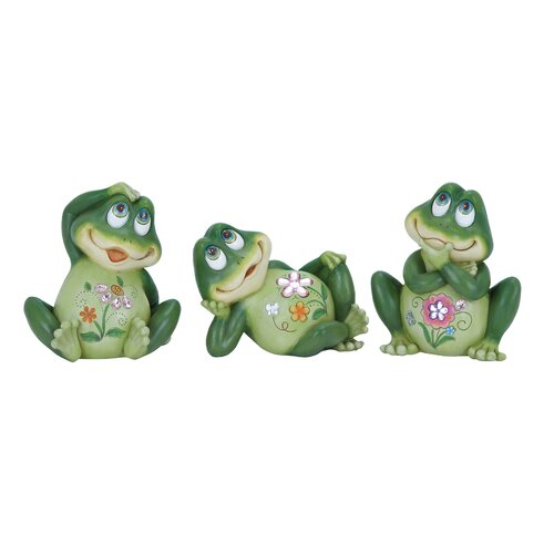 Casual Frog Decor in Shade and Versatile Figurine (Set of 3)