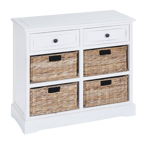 Basket Storage With Drawers Cabinets ~ Woodland imports basket drawer cabinet