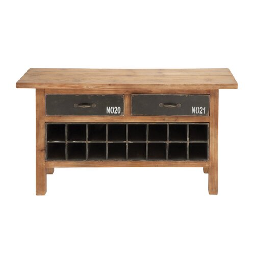 Woodland Imports 16 Bottle Wine Cabinet