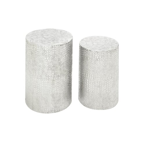 2 Piece Aluminum Decorative Stool
