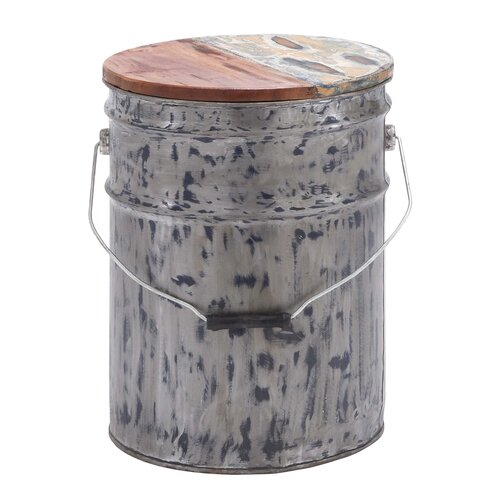 Ornamented Bucket with Lid Sculpture