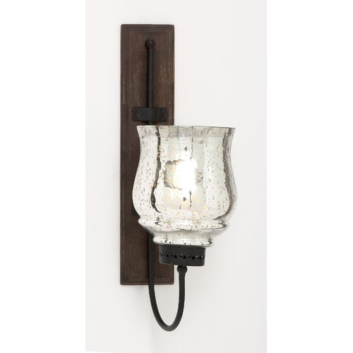 Woodland Imports Metal and Wood Sconce