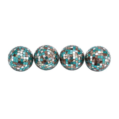 Woodland Imports Mirror Mosaic Decorative Ball