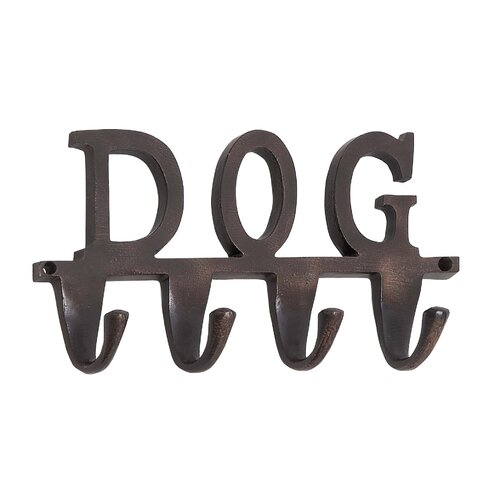 "Woodland Imports Aluminum ""Dog"" Wall Hook"