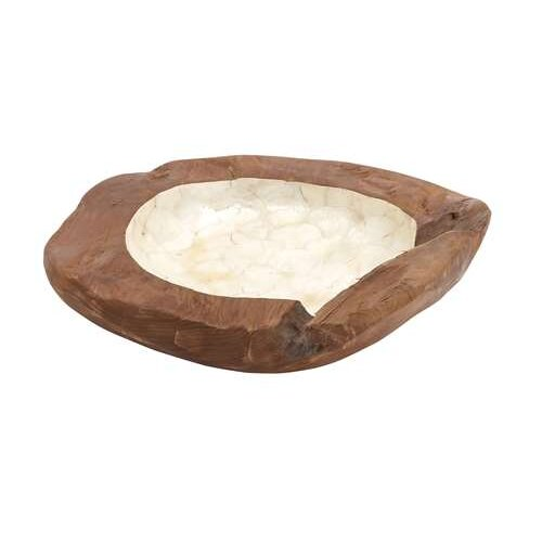Woodland Imports Teak Wood Bowl