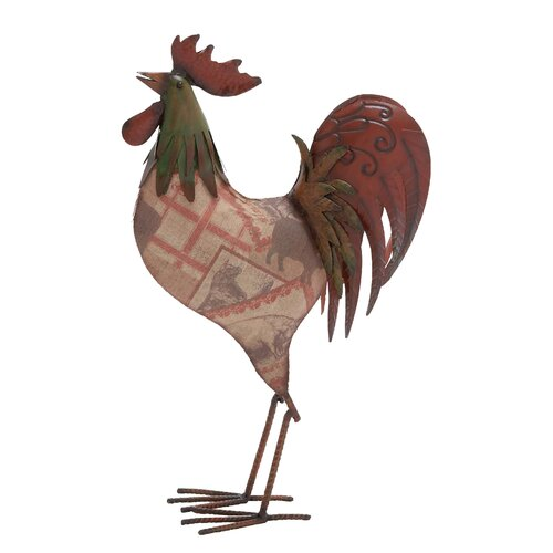 American Contemporary Metal Rooster Statue