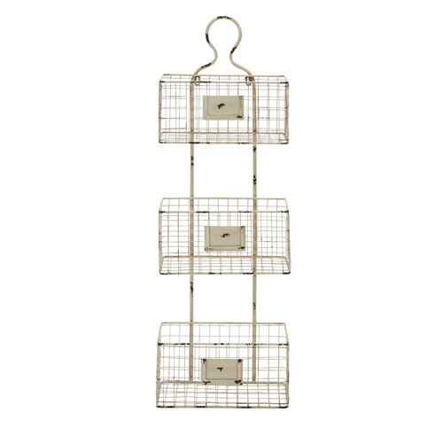 Woodland Imports 3 Tiered Metal Wire Basket Shelf