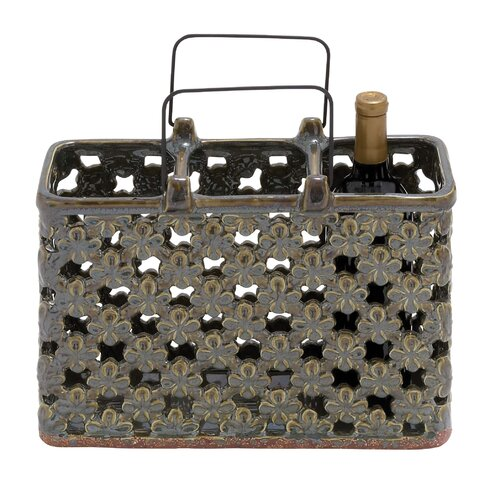 Woodland Imports 3 Bottle Wine Rack