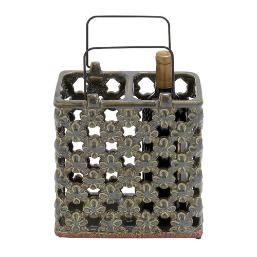 Woodland Imports 2 Bottle Wine Rack