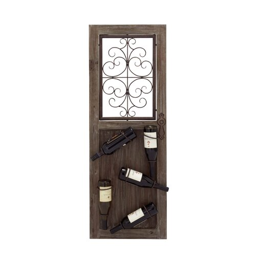 Italian 5 Bottle Wall Mounted Wine Rack