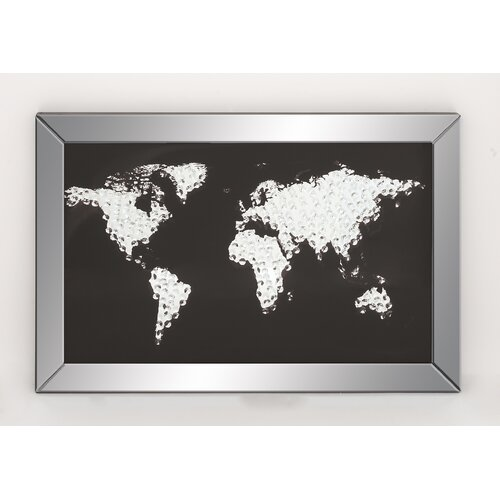 Abstract Map Cloud Framed Graphic Art