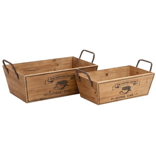 Woodland Imports 2 Piece Tabletop Wine Rack Set