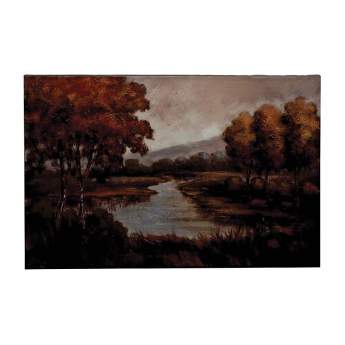 'Trees and River' Original Painting on Canvas
