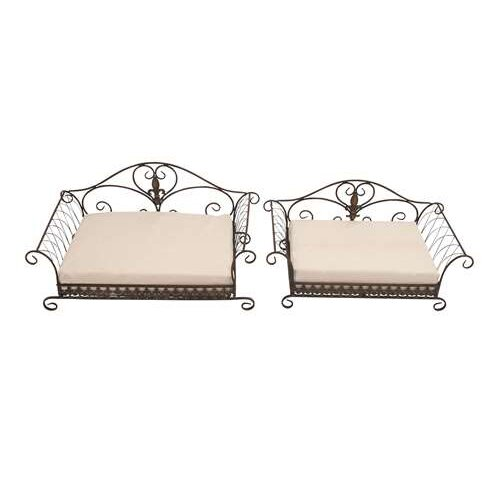 Woodland Imports 2 Piece Hiltons Fancy Elegant Dog Bed Set