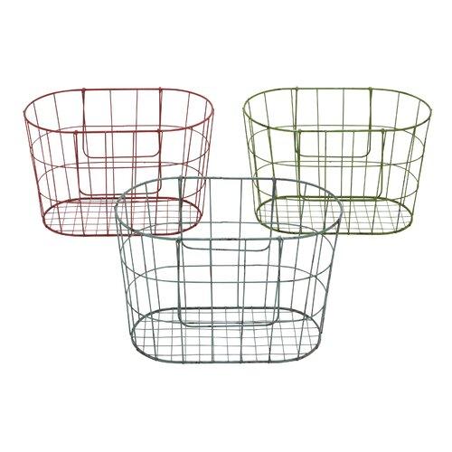 Vintage French Market Baskets (Set of 3)