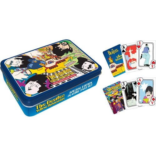 Aquarius Beatles Yellow Sub Playing Card Tin Set