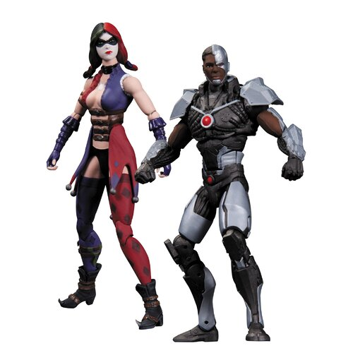 Diamond Selects DC Comics Injustice: Gods Among Us Cyborg vs Harley Quinn Action Figure