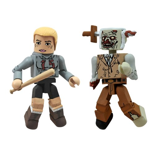 Diamond Selects The Walking Dead Minimates Series 2: Amy and Zombie Lurker