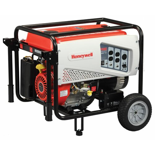 Honeywell Generators Portable 7,500 Watt Gasoline Generator with Electric Start
