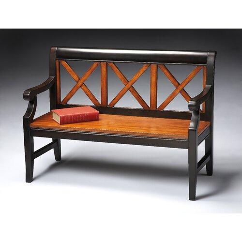 Transitional Cherry Veneer Bench